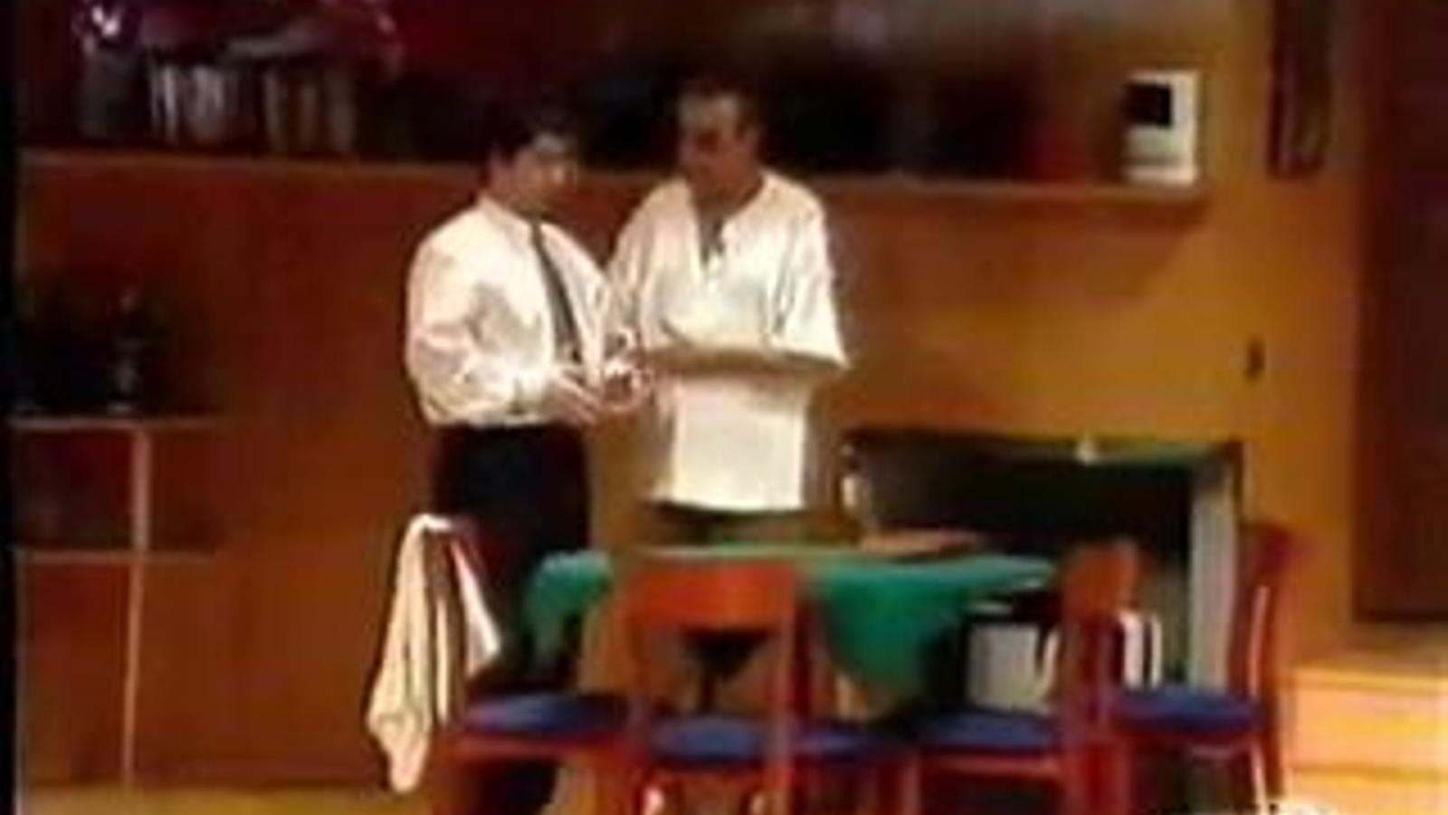 Una escena de 'La extraña pareja', amb Paco Morán i Joan Pera