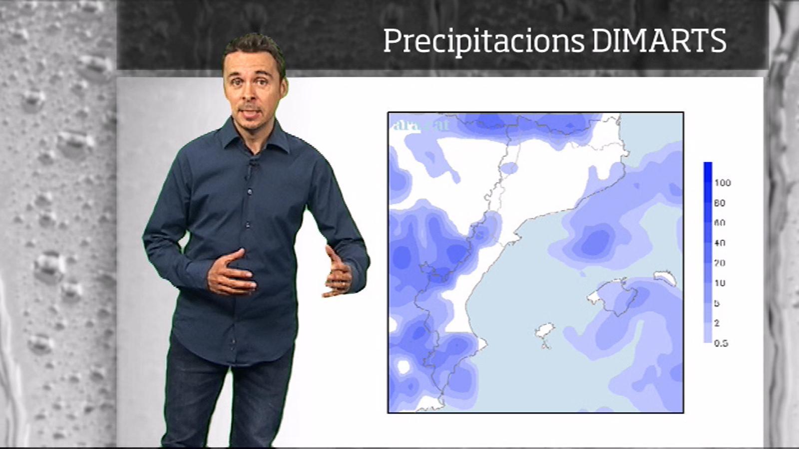 La méteo en 1 minut: Menys calor i més variabilitat