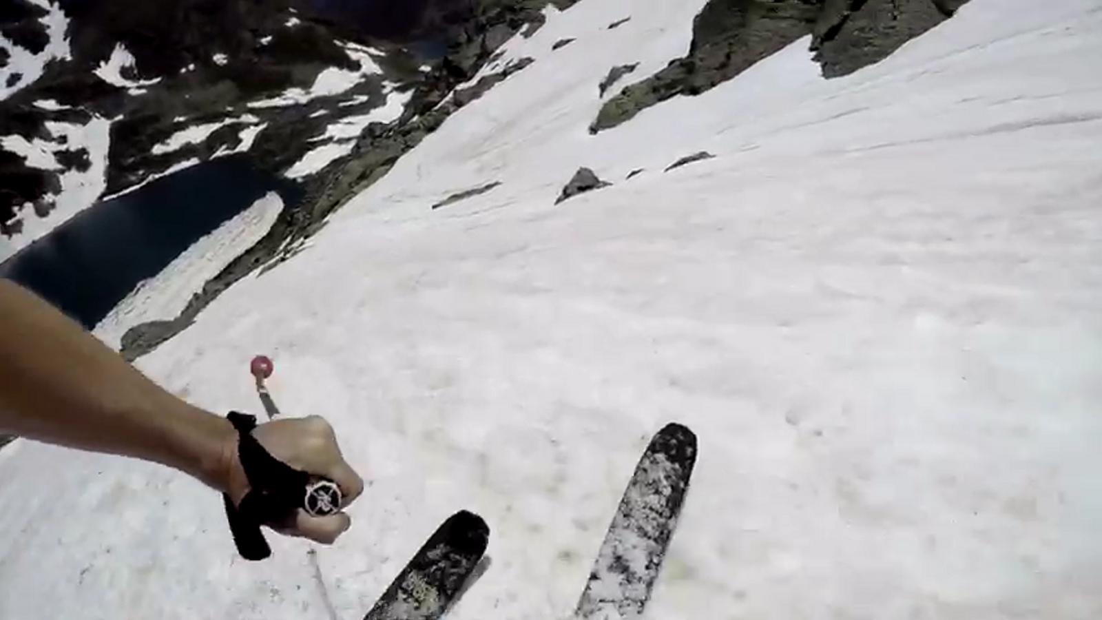 Esquiant a Tristaina finals de juny