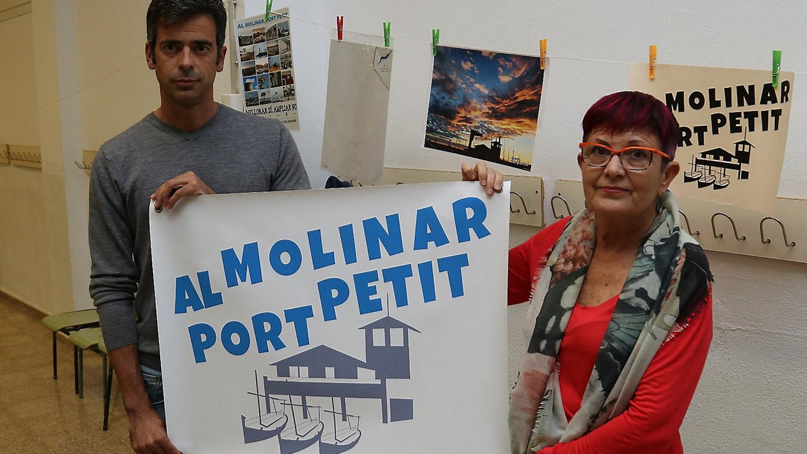 Pedro Martínez i Toñi Fernández són els portaveus d'Al Molinar Port Petit.