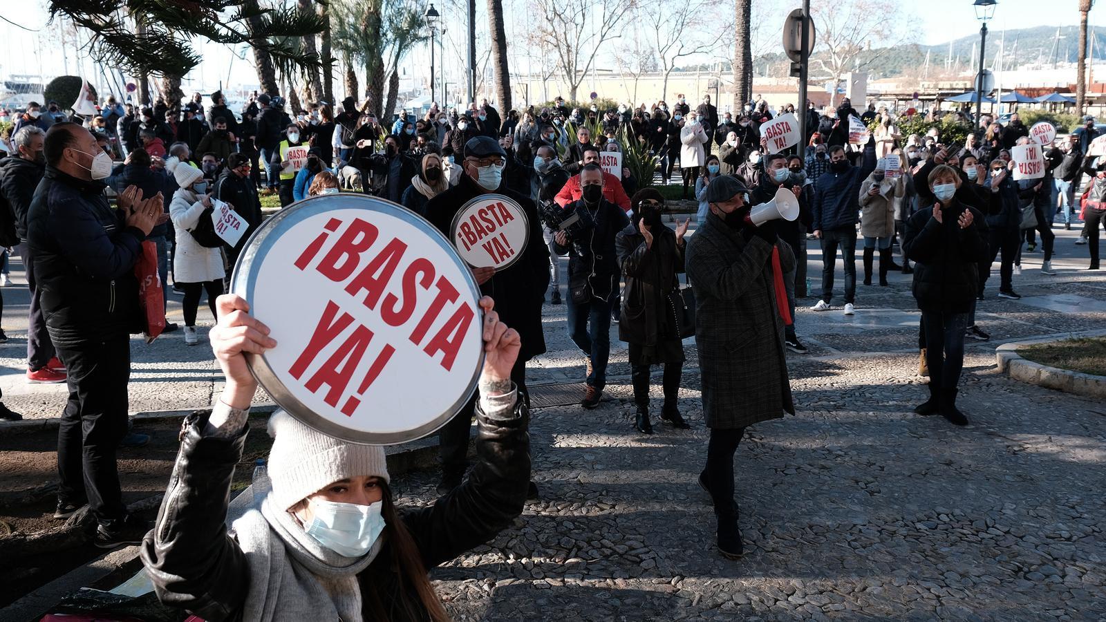 Manifestació del sector de la restauració el passat 12 de gener. / ISAAC BUJ