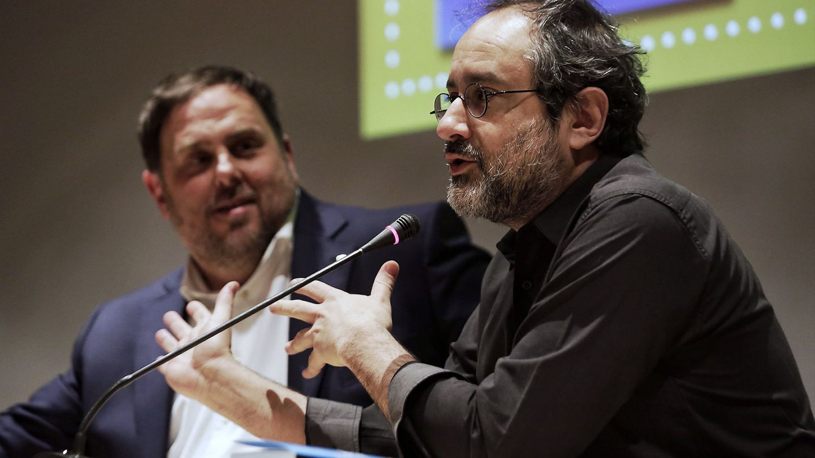 Junqueras va presentar el llibre de Baños al Museu Marítim. / P. VIRGILI