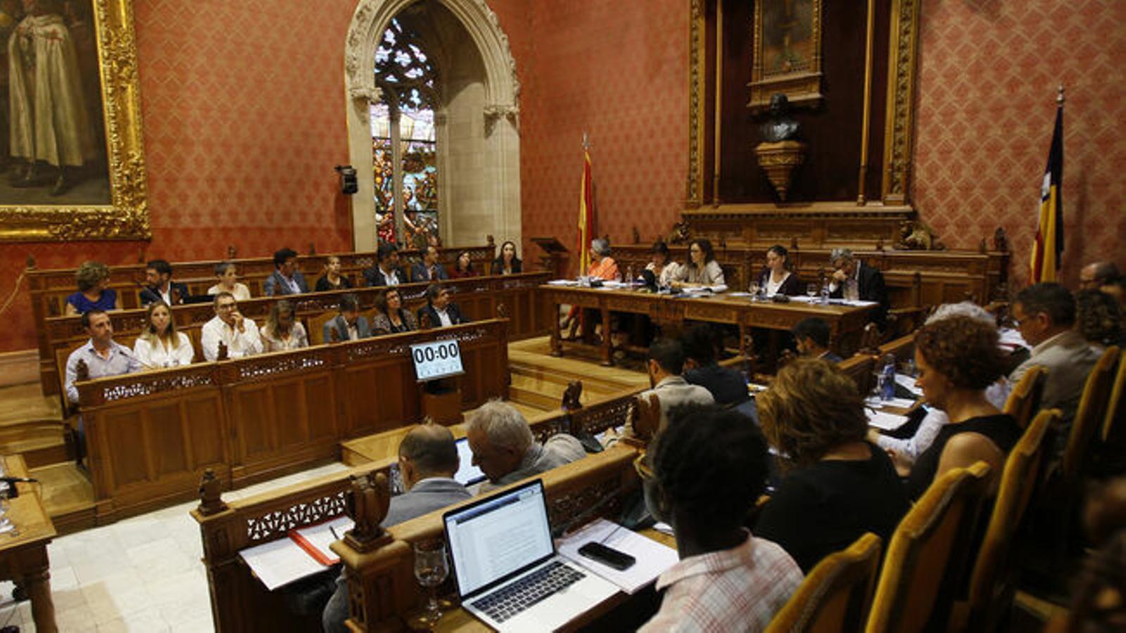 Una sessió plenària al Consell de Mallorca / ISAAC BUJ