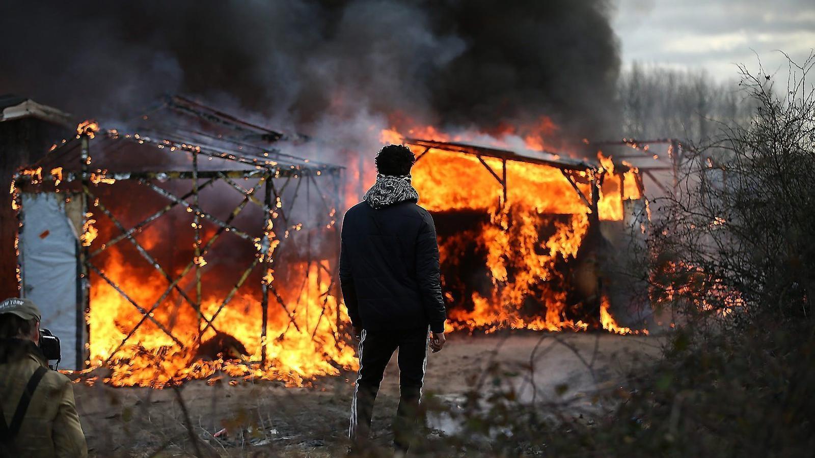 """A Calais: """"Ningú viu en aquesta 'jungla' per gust"""""""