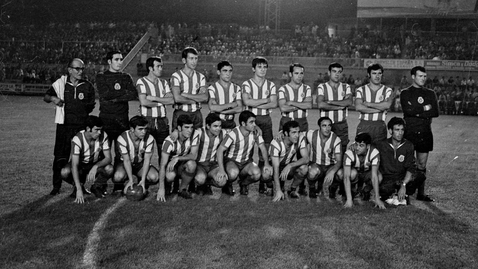 La plantilla del Girona 1970-71