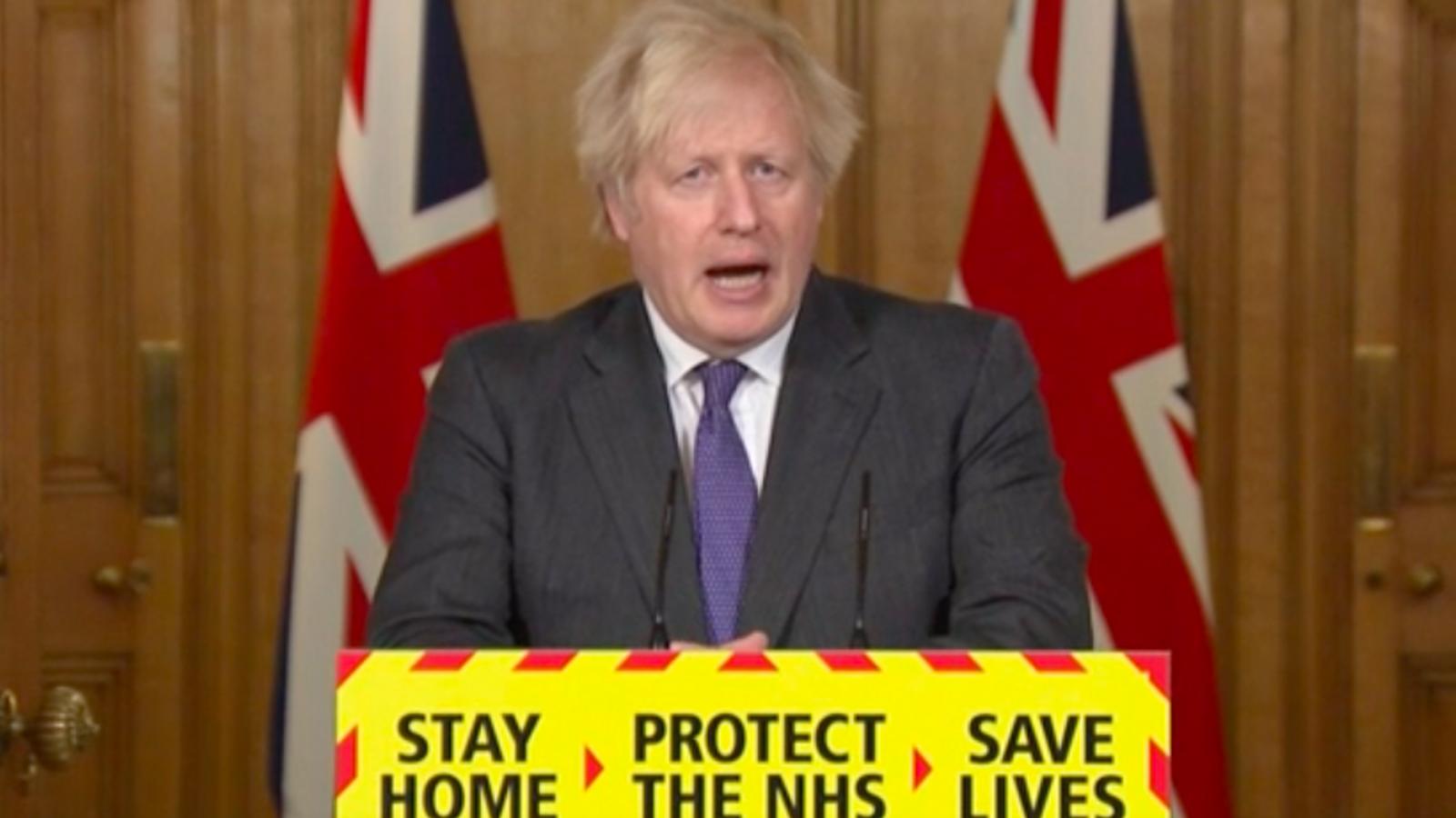 Boris Johnson, aquesta tarda a Downing Street