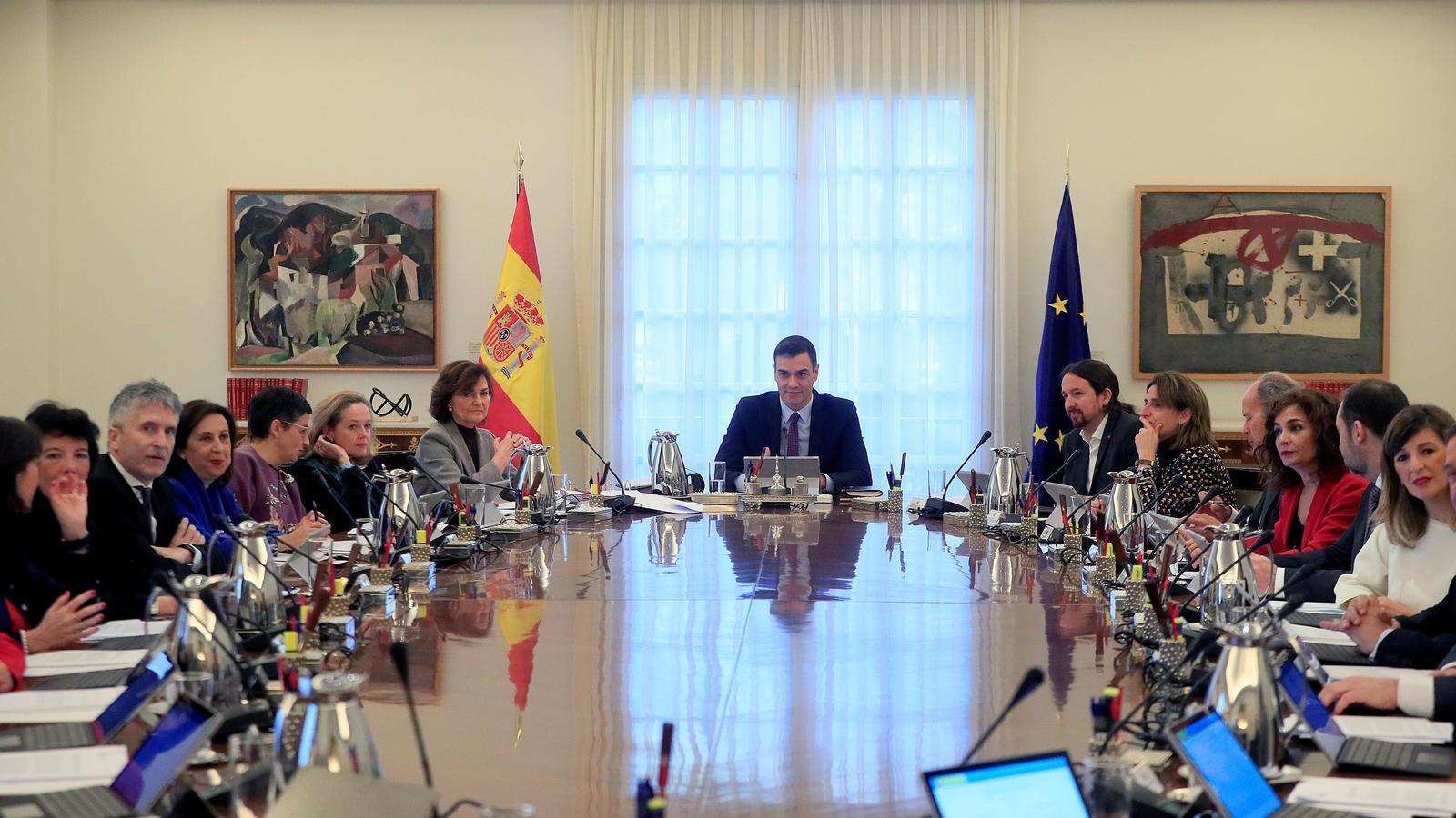 EN DIRECTE: Compareixença posterior al consell de ministres