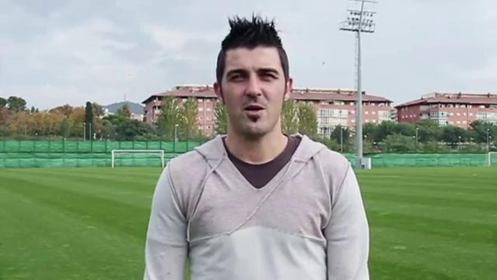 David Villa demana 50.000 campions a Mestalla