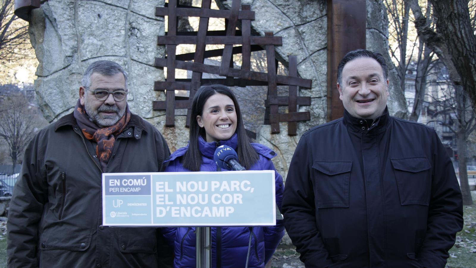 Laura Mas, d'En Comú per Encamp presentant la proposta del nou Prat Gran. / C.A.