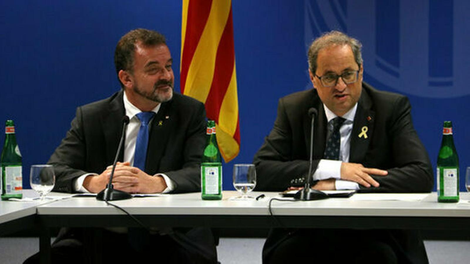 """Torra respon a l'advertència de l'executiu espanyol i es referma en la """"confrontació"""""""