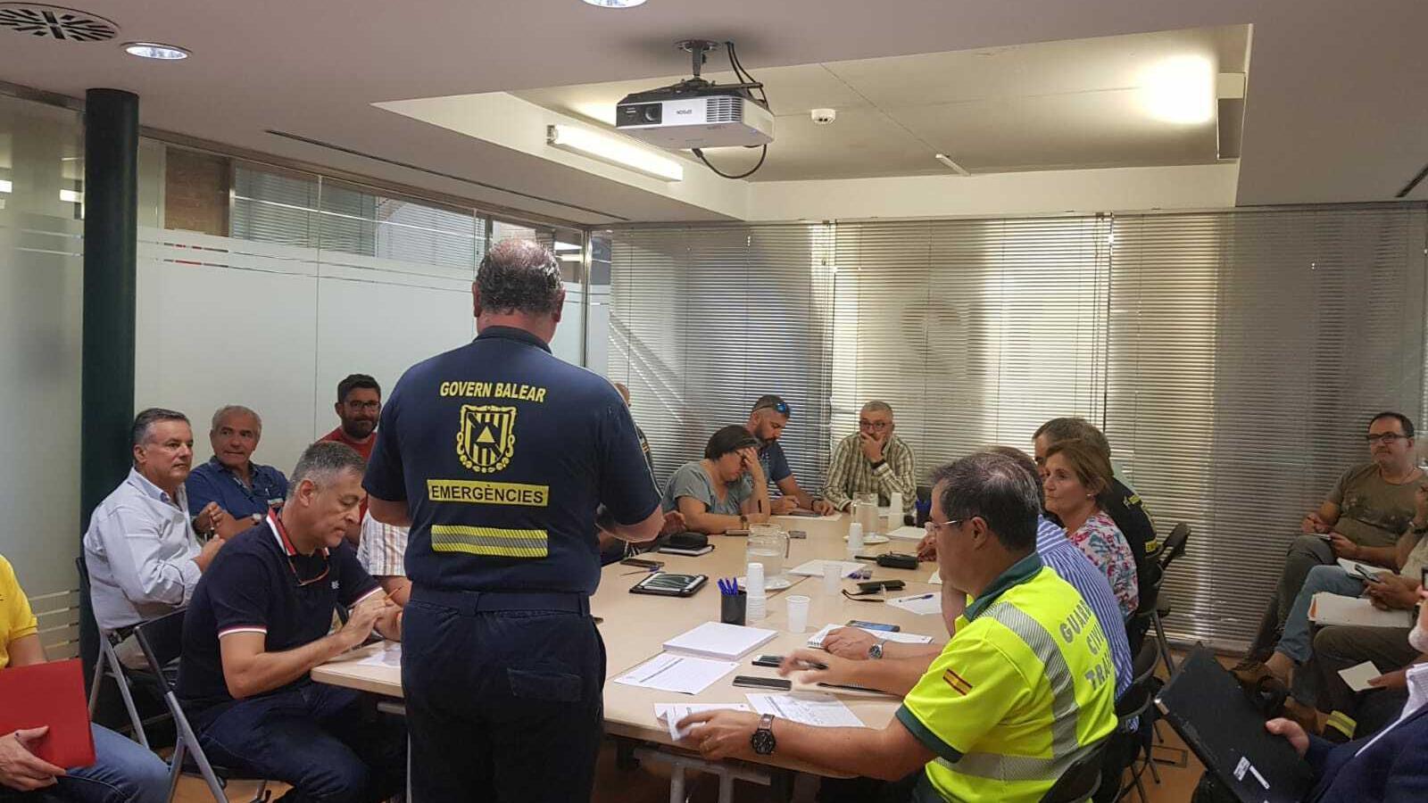 Imatge de la reunió del Grup de Suport Tècnic d'Emergències
