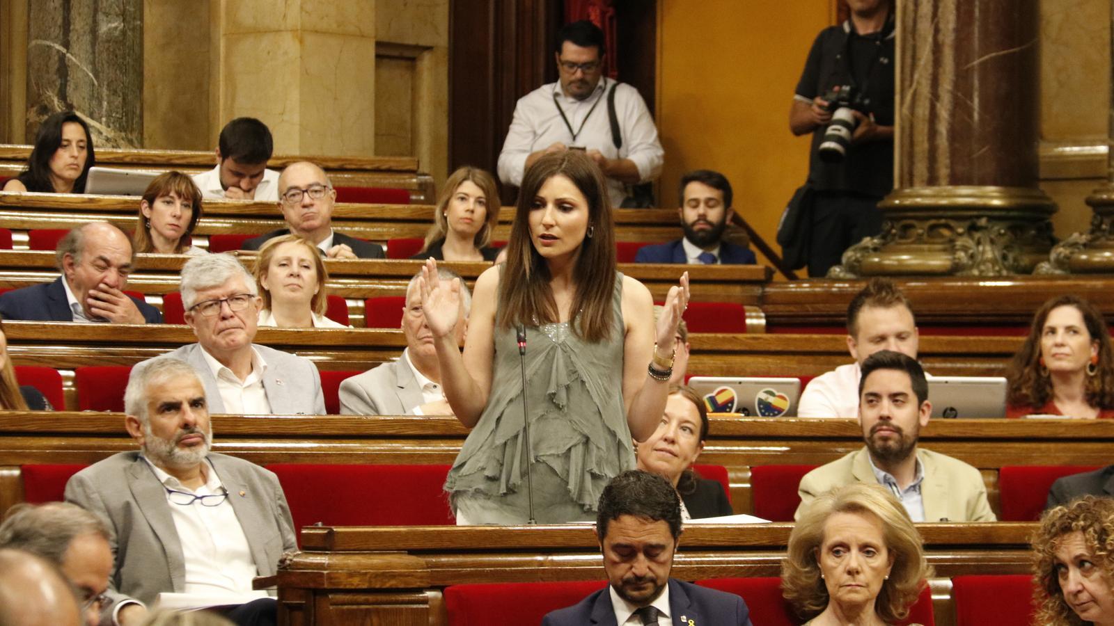 """Ciutadans es reunirà amb Torra """"si treu"""" la pancarta dels presos polítics de la Generalitat"""