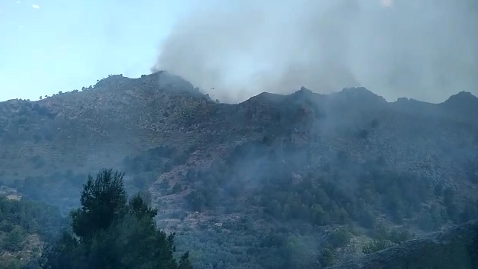 Incendi forestal entre Cala Tuent i la Calobra