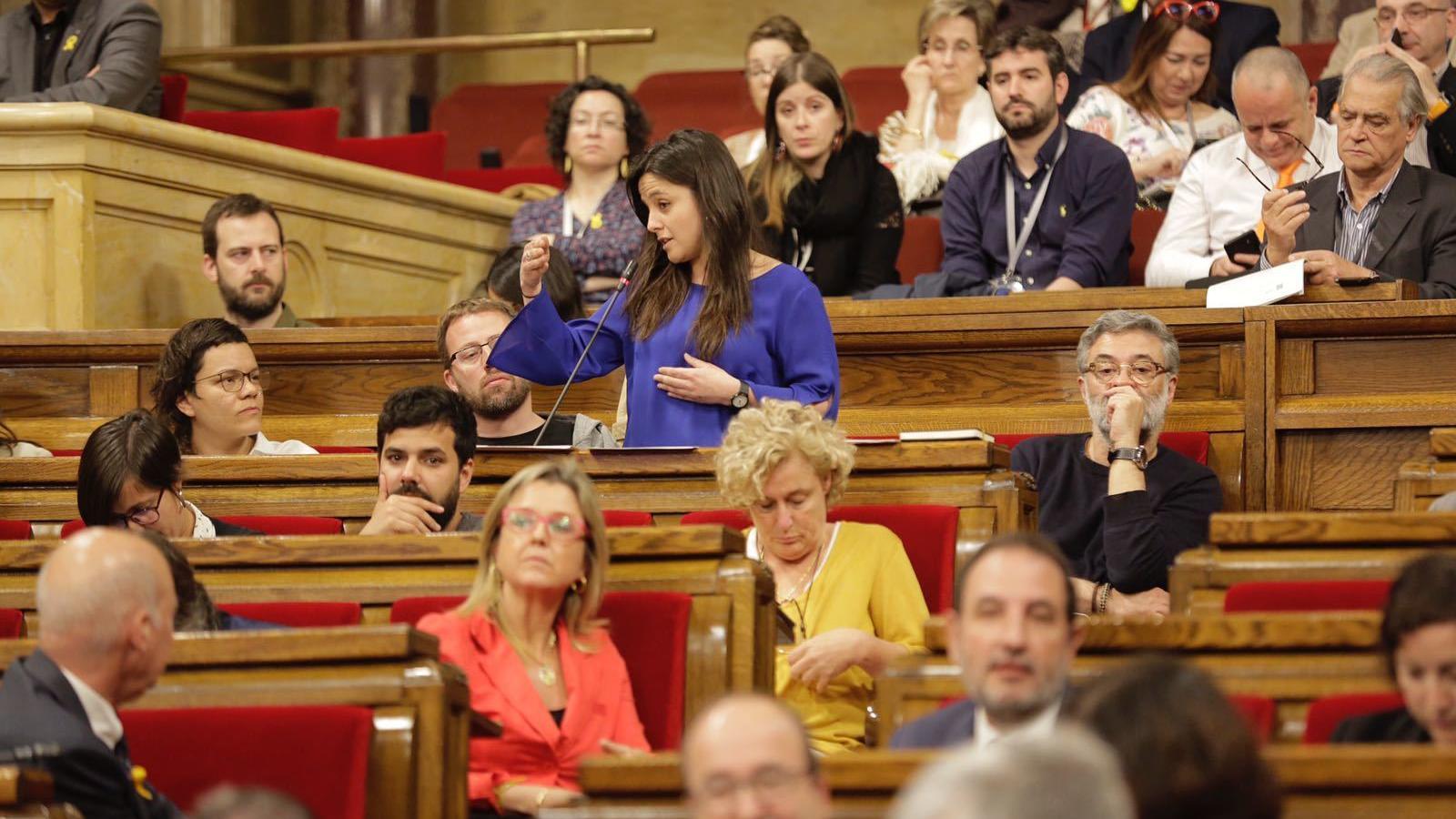 La diputada de la CUP, Maria Sirvent, aquest matí al Parlament