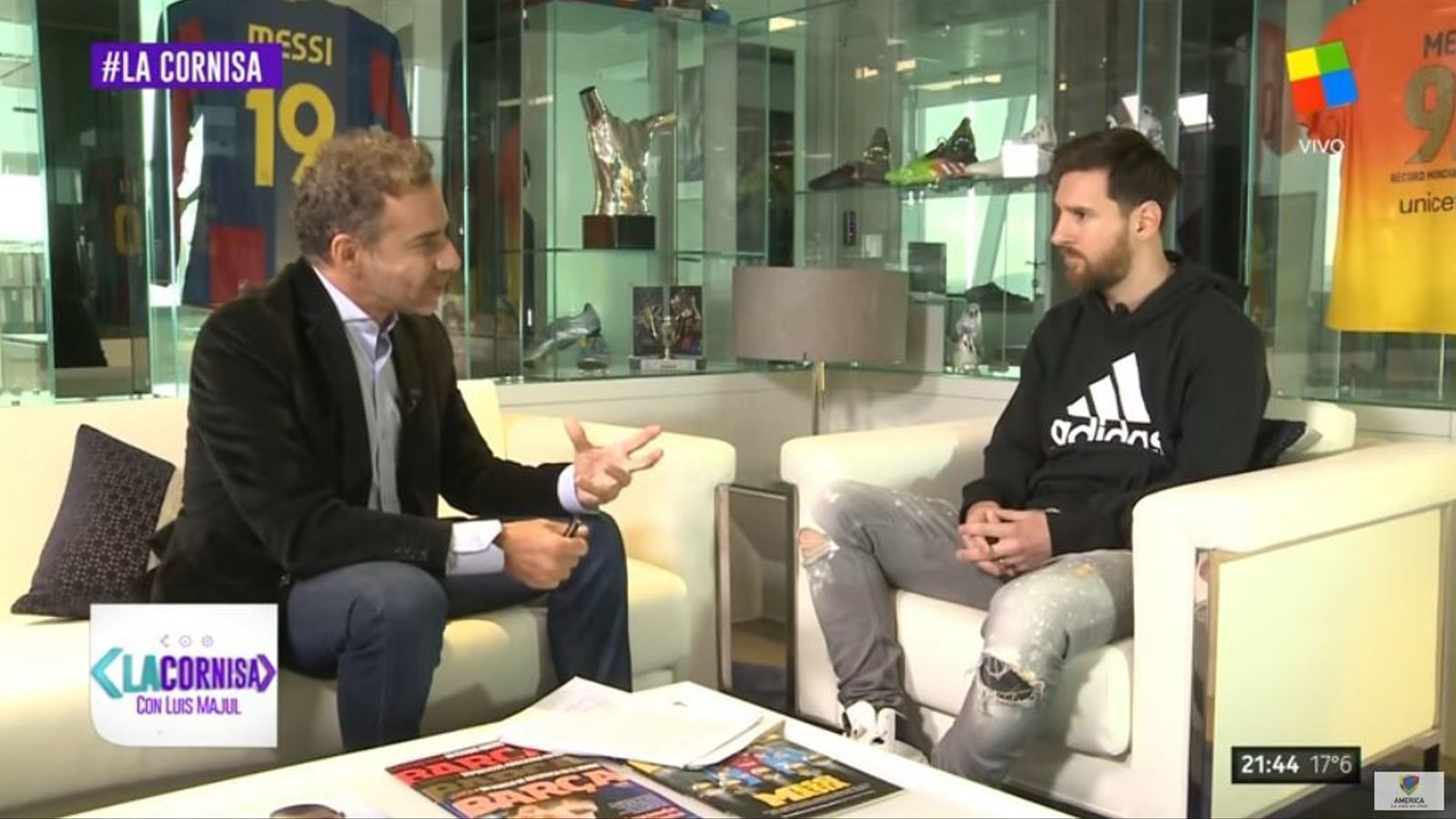 Leo Messi, entrevistat a 'La Cornisa'