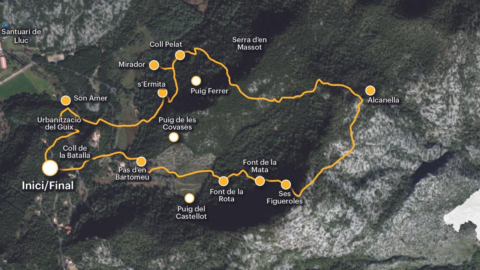 La vall d'Alcanella, un dels tresors de la serra de Tramuntana