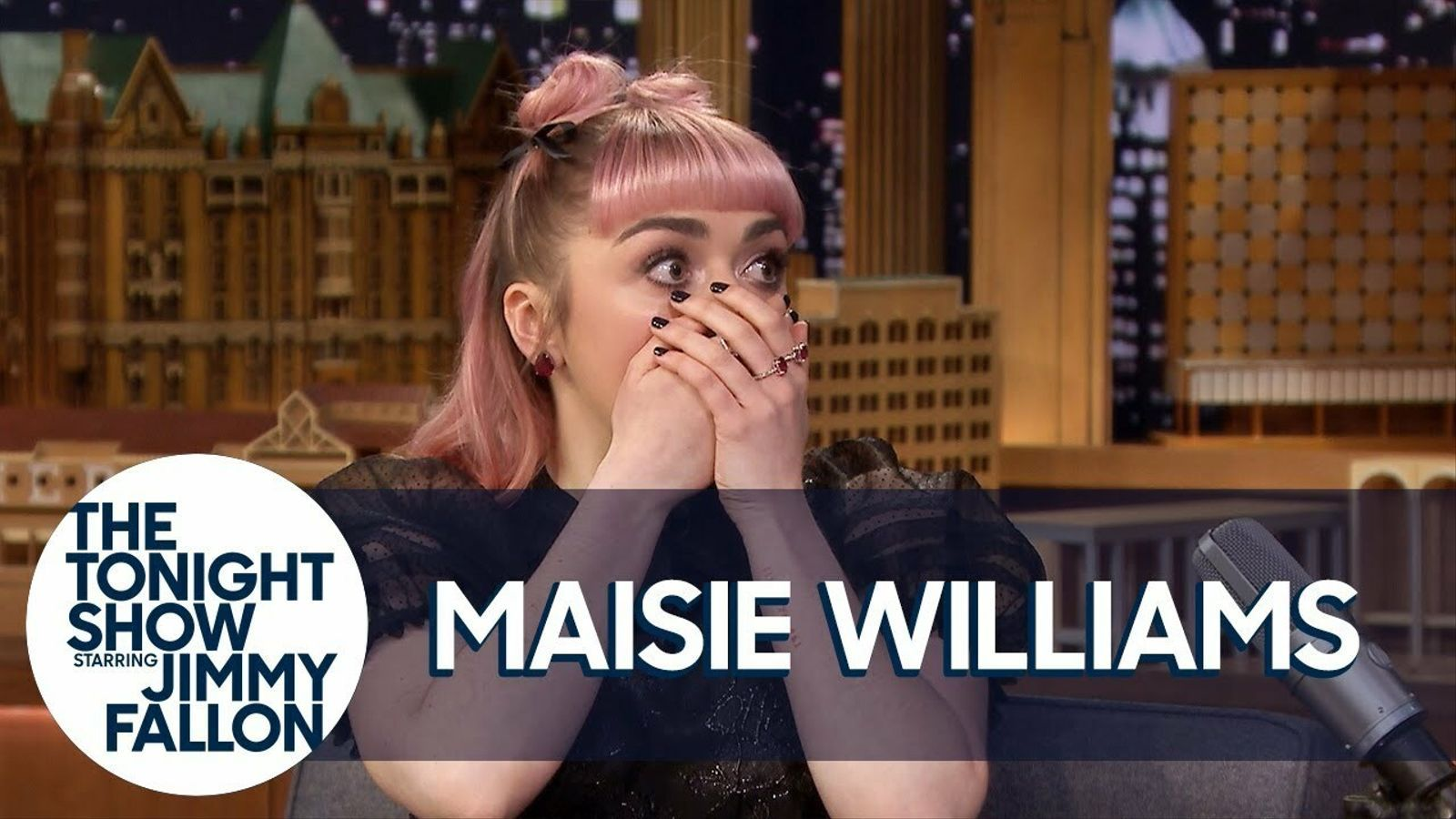 Maisie Williams a a 'The Tonight show with Jimmy Fallon'