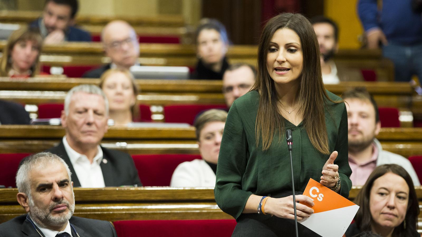 Lorena Roldán en una sessió de control al Parlament, el desembre de 2019