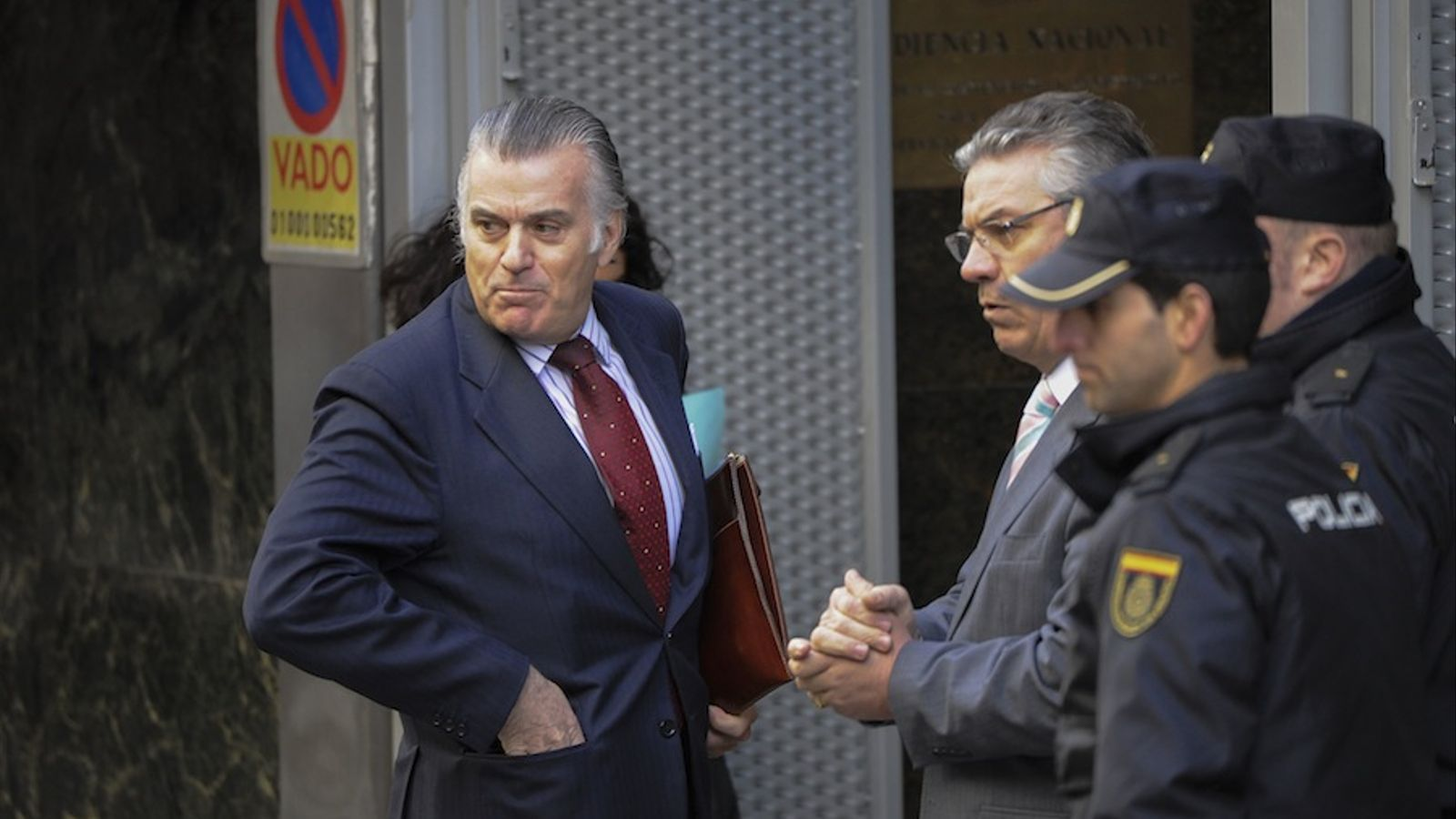 Luis Bárcenas arriba a l'Audiència Nacional / AFP