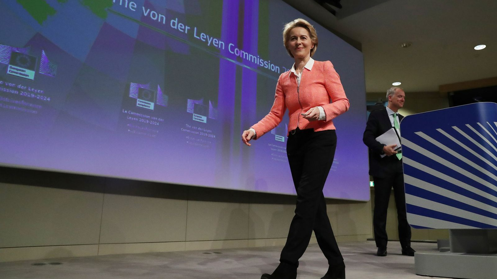 La presidenta de la Comissió Europea, Ursula von der Leyen, aquest dimarts a Brussel·les.
