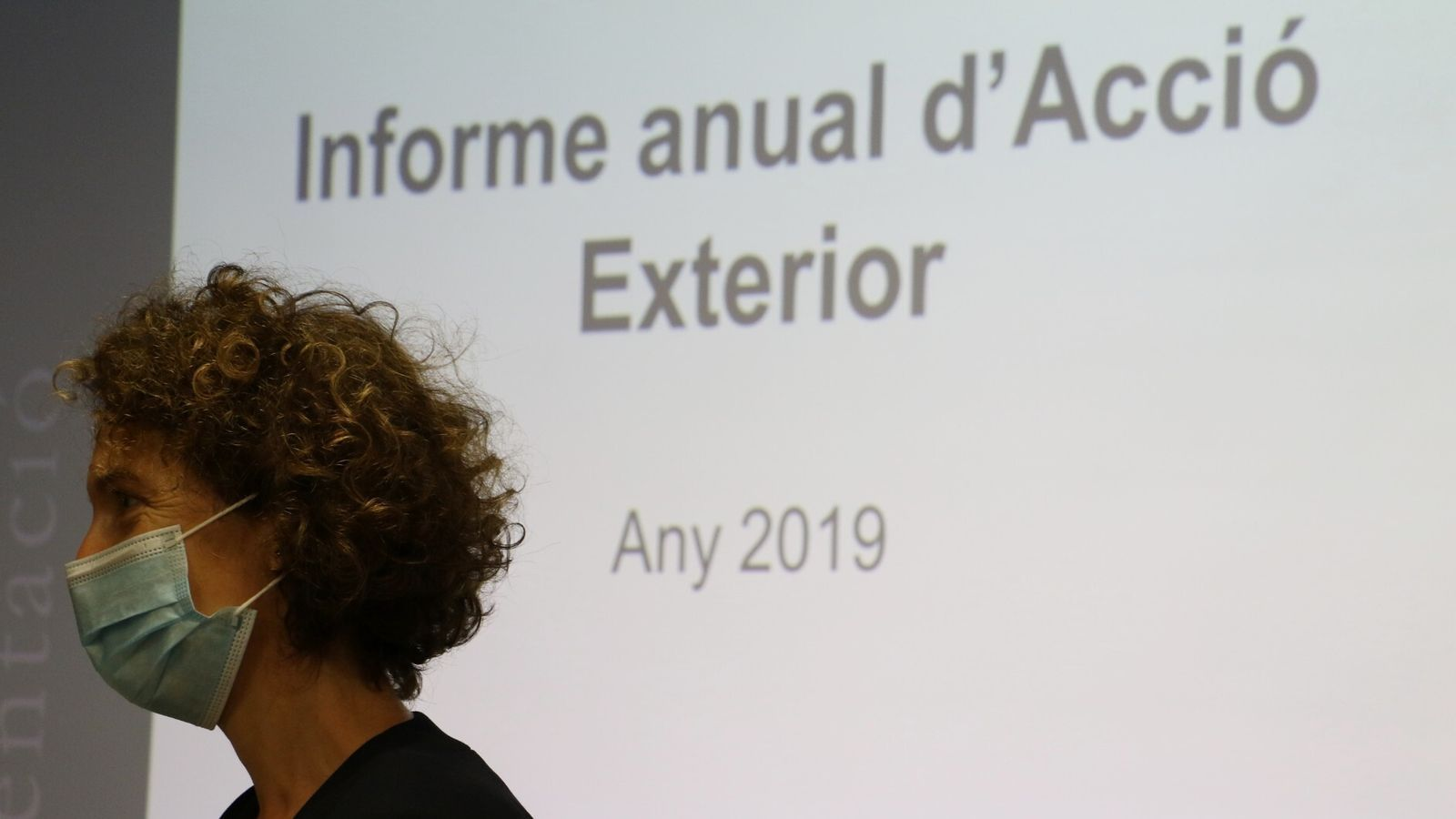 La ministra d'Afers Exteriors, Maria Ubach, durant la presentació de l'informe anual d'acció exterior 2019. / E.C. (ANA)