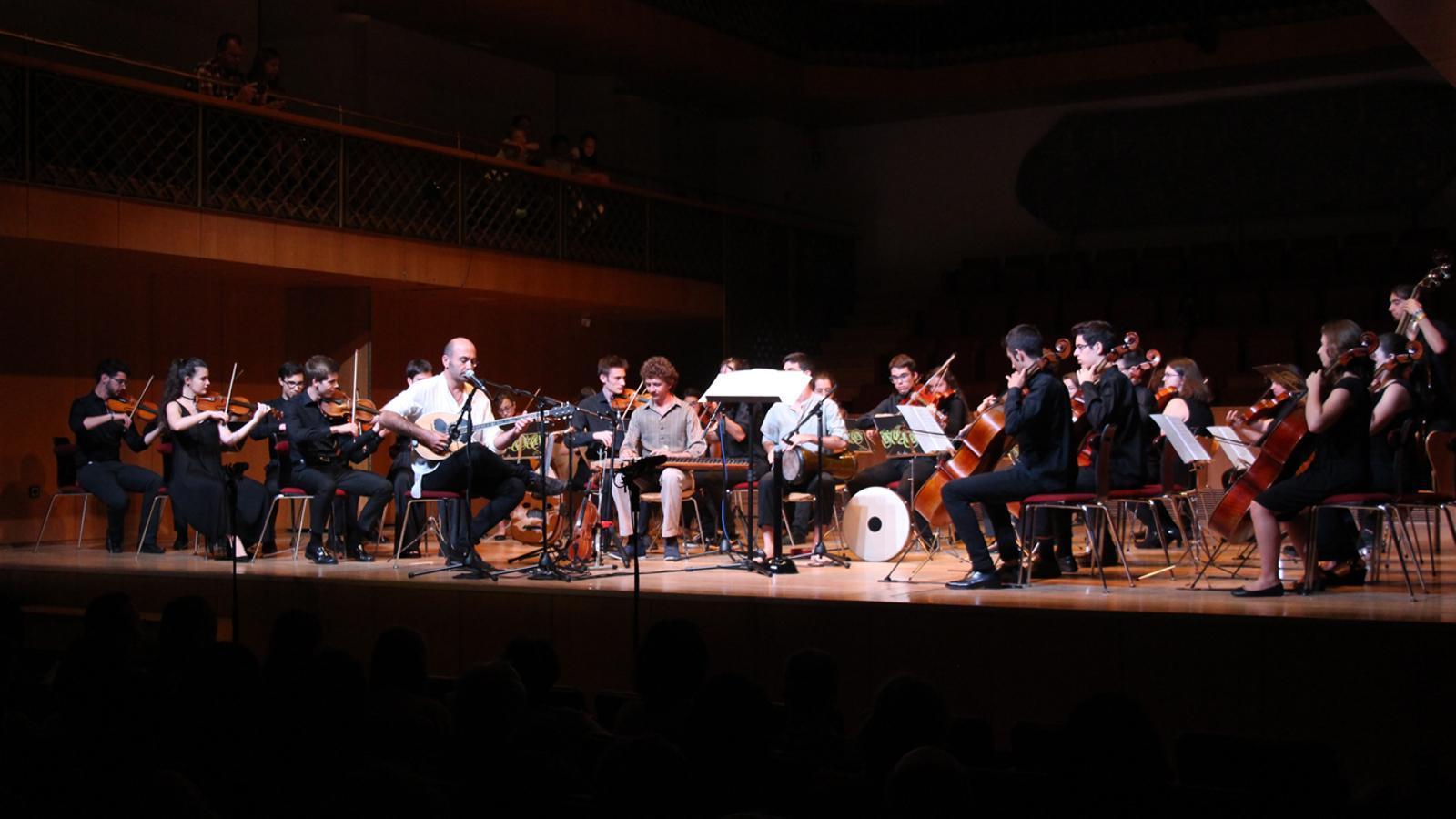 Un moment del tradicional concert de Meritxell, ofert per la Jonca. / M. P. (ANA)