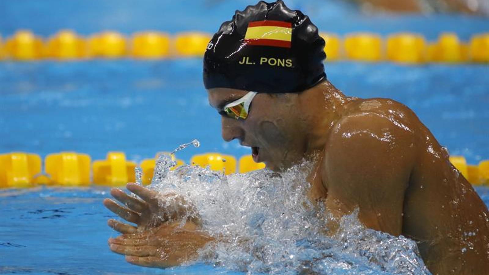 Joan Lluís Pons en acció.