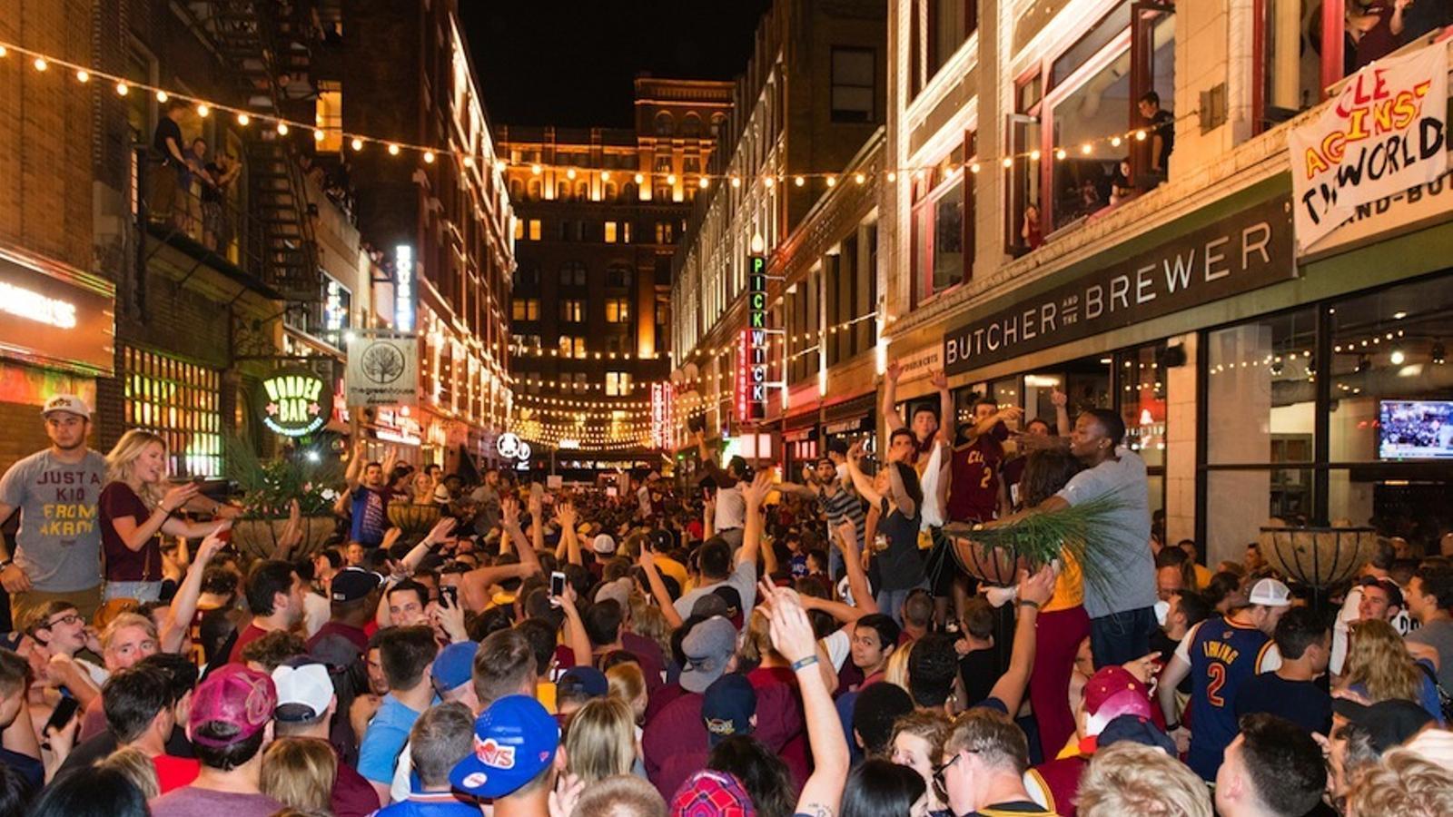La ciutat de Cleveland, celebrant el títol