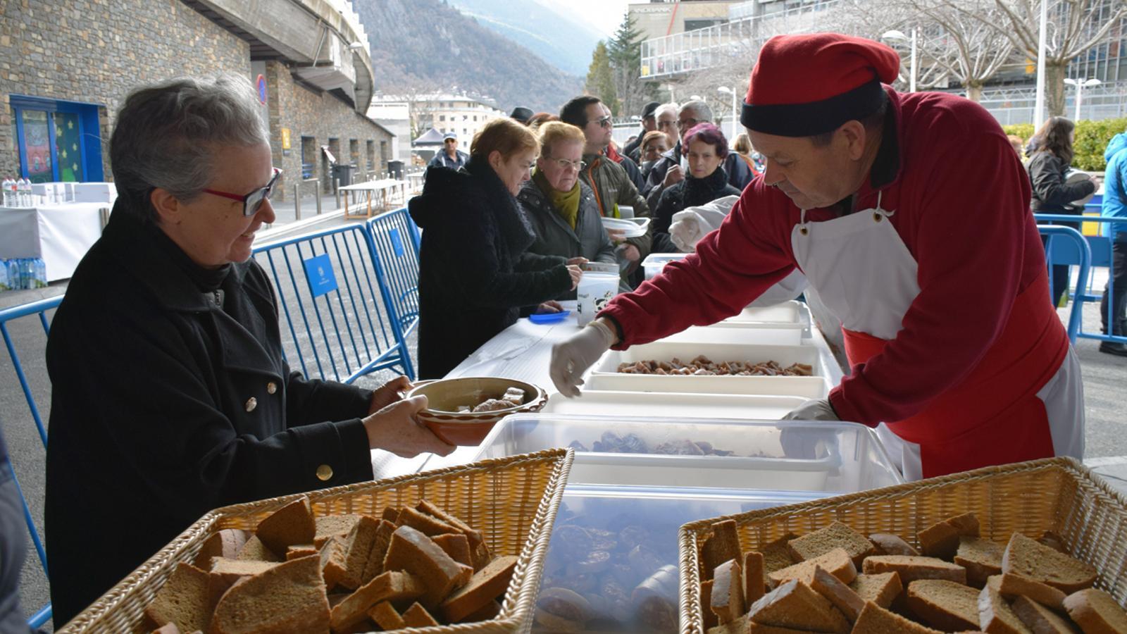 L'escudella de Sant Antoni celebrada a Andorra la Vella i Escaldes-Engordany