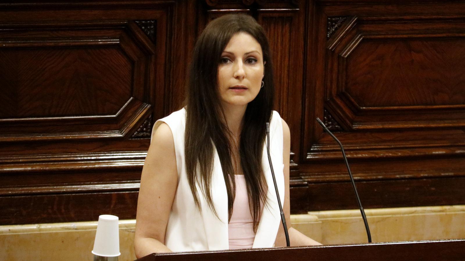 Lorena Roldán aquest migdia al Parlament