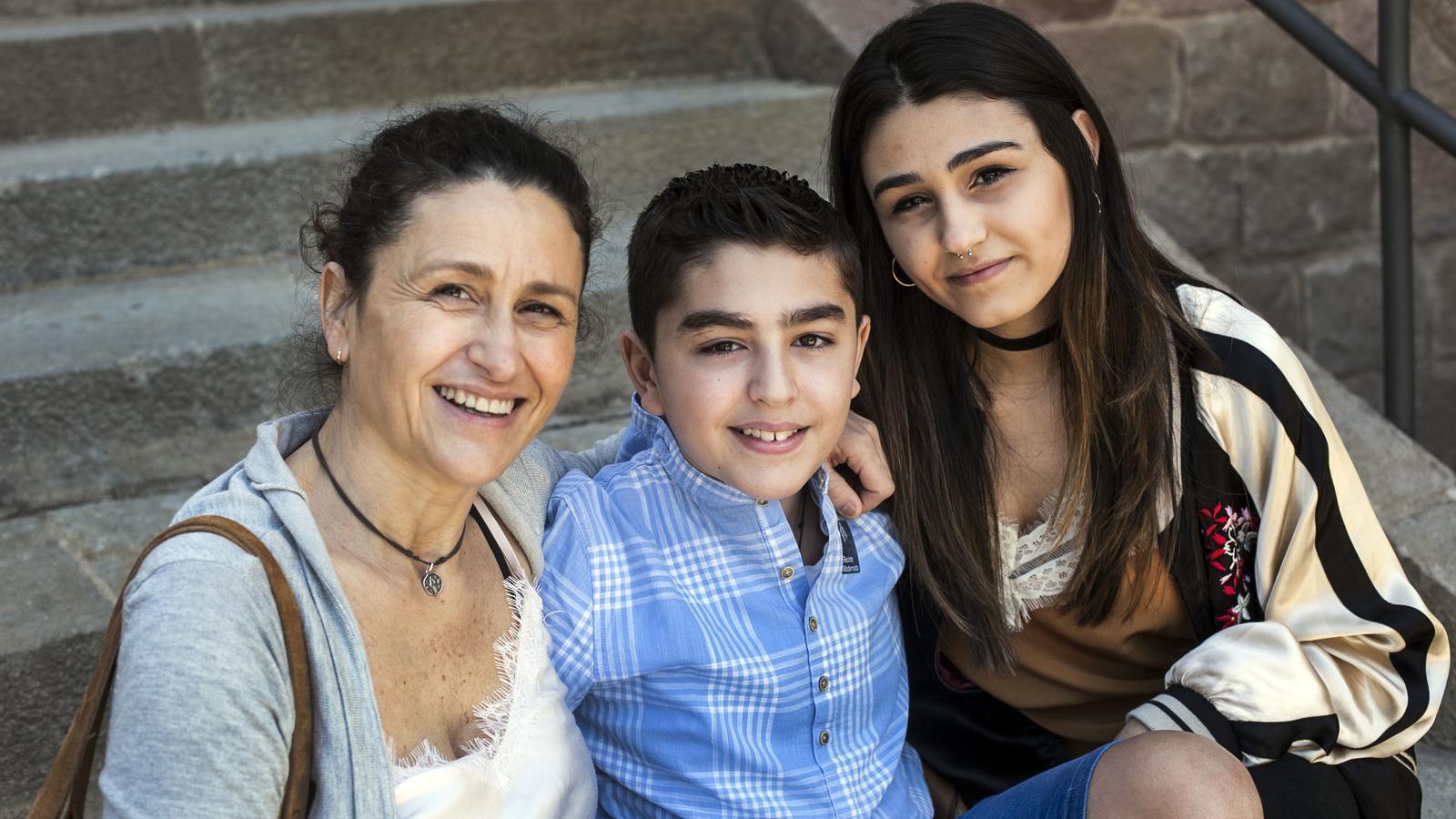 La Maria i els seus fills Mateo i Antía