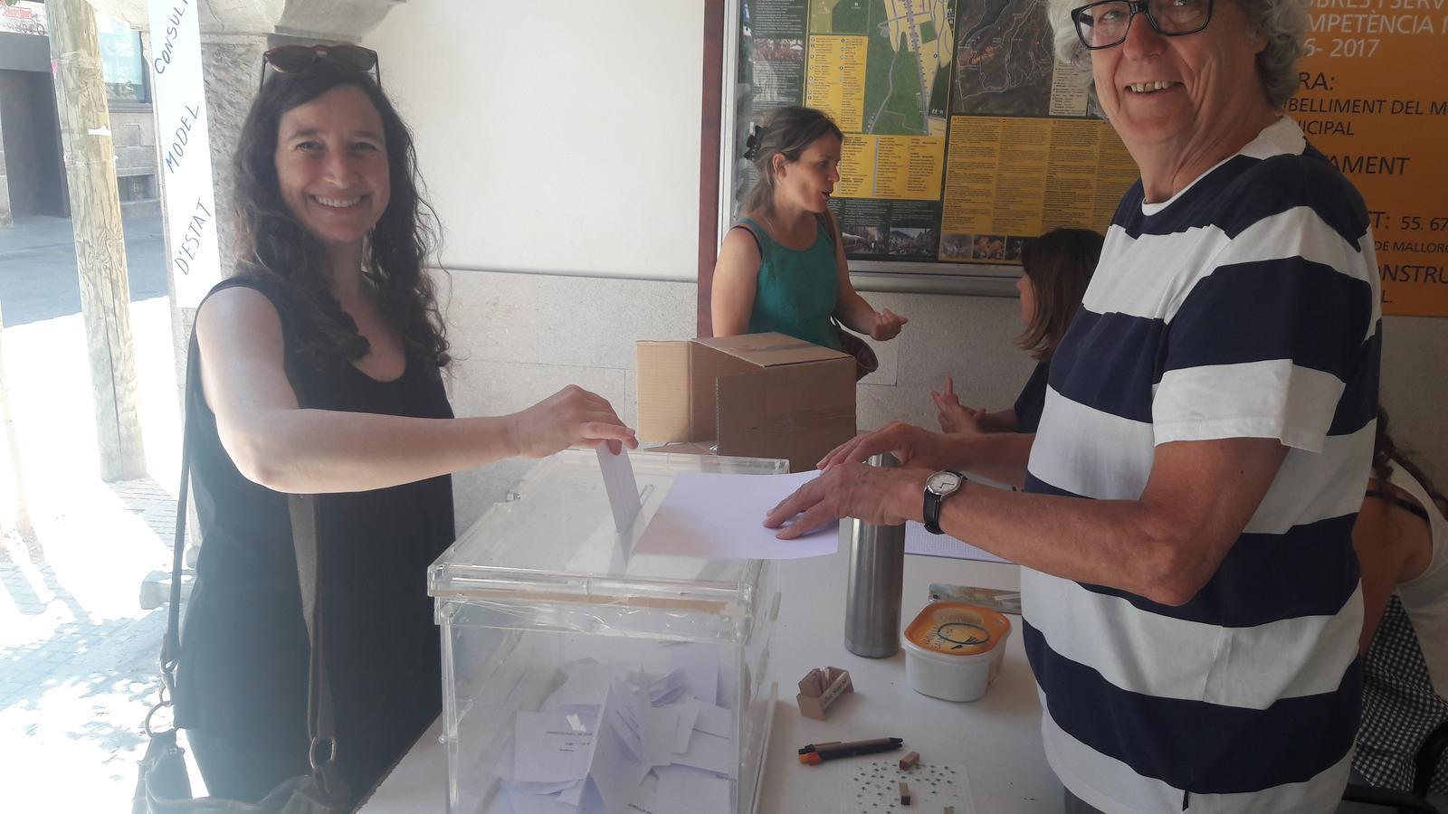 Imatge de la votació, aquest matí a Bunyola