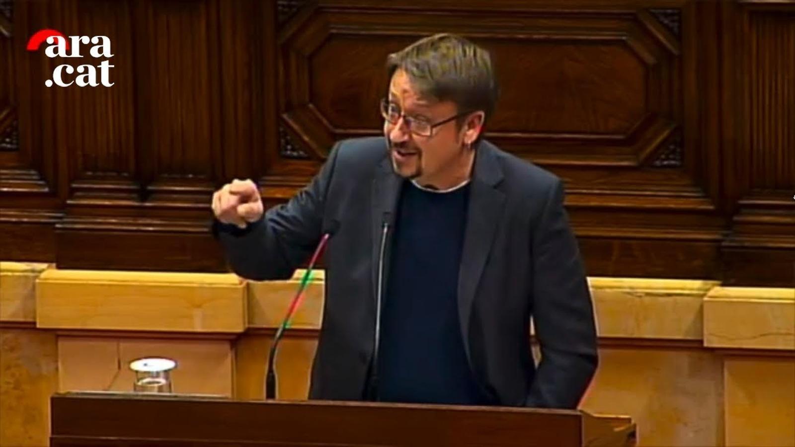 """Domènech: """"Necessitem una resposta el més àmplia possible per la causa de la democràcia i llibertat"""""""