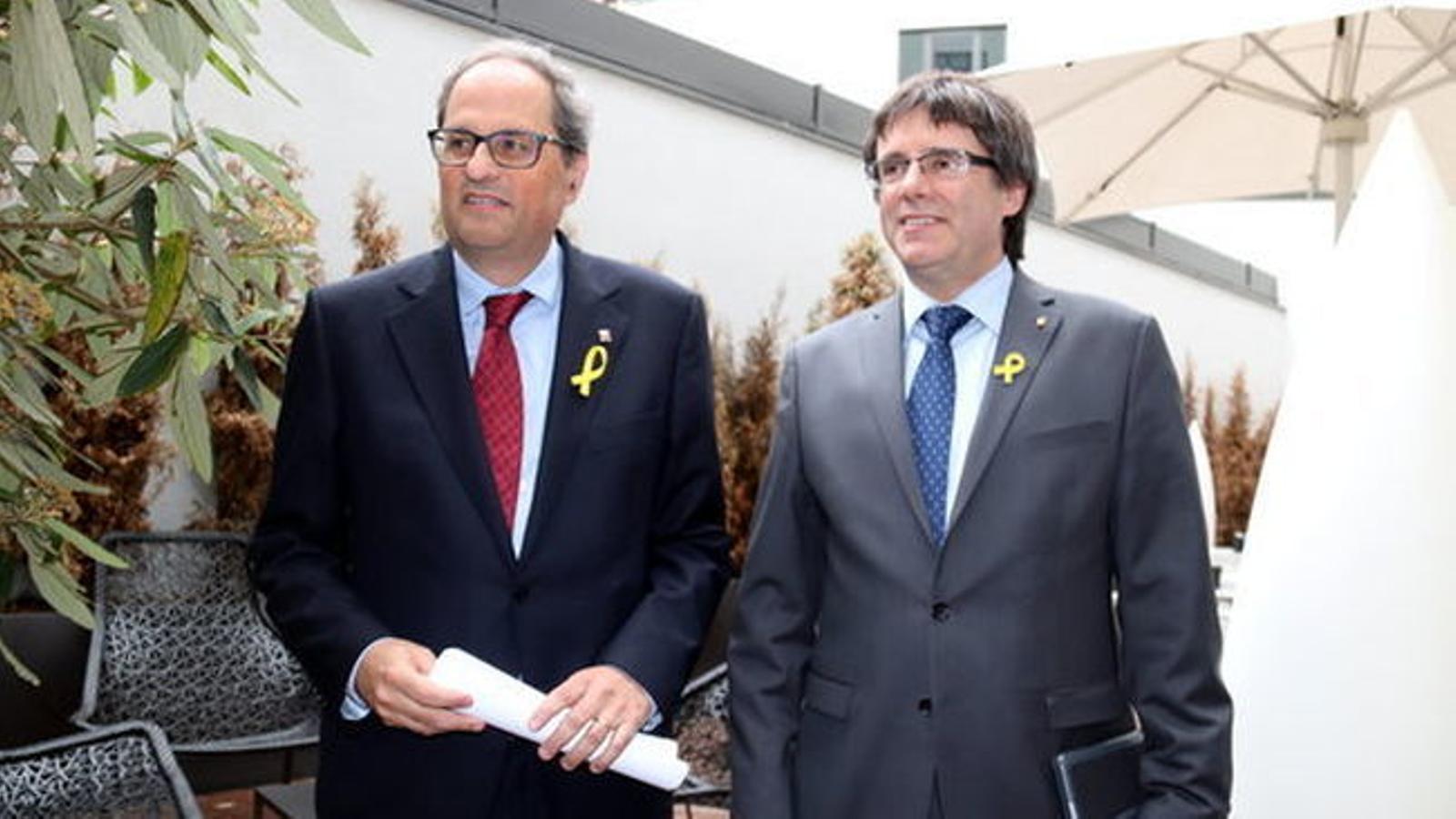 El Parlament Europeu prohibeix la conferència de Carles Puigdemont i Quim Torra
