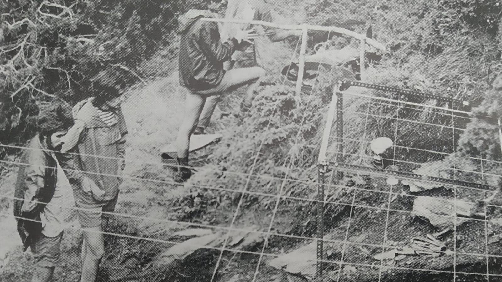 Eudald Carbonell i el seu equip durant les excavacions del 1973