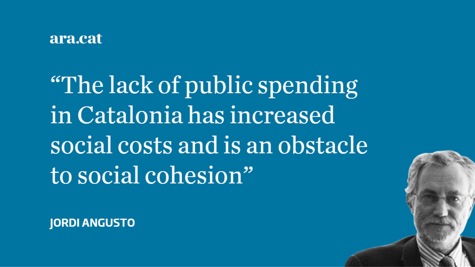 The social cost of Catalonia's fiscal deficit