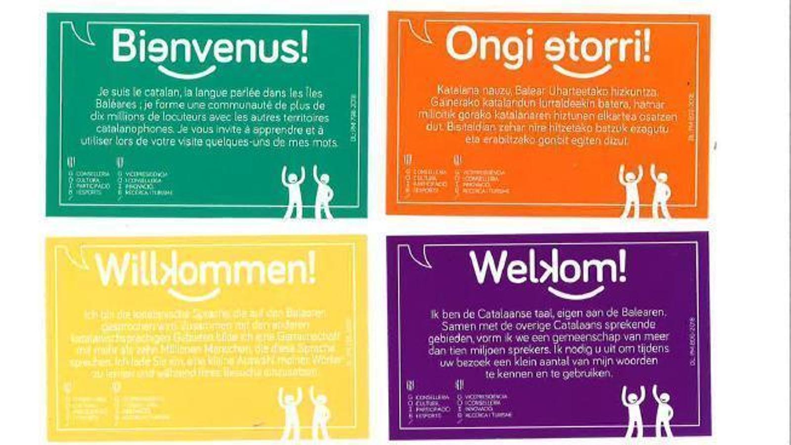 'Benvinguts', la campanya de la Conselleria de Cultura.