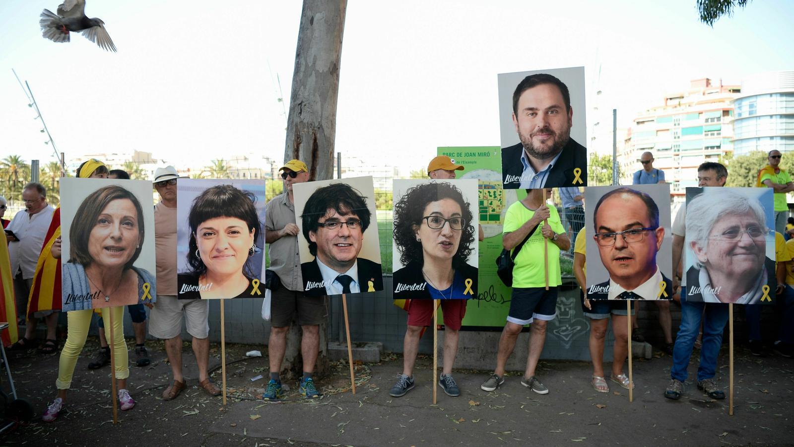 Solidaritat amb els líders independentistes a la presó i a l'exili / AFP