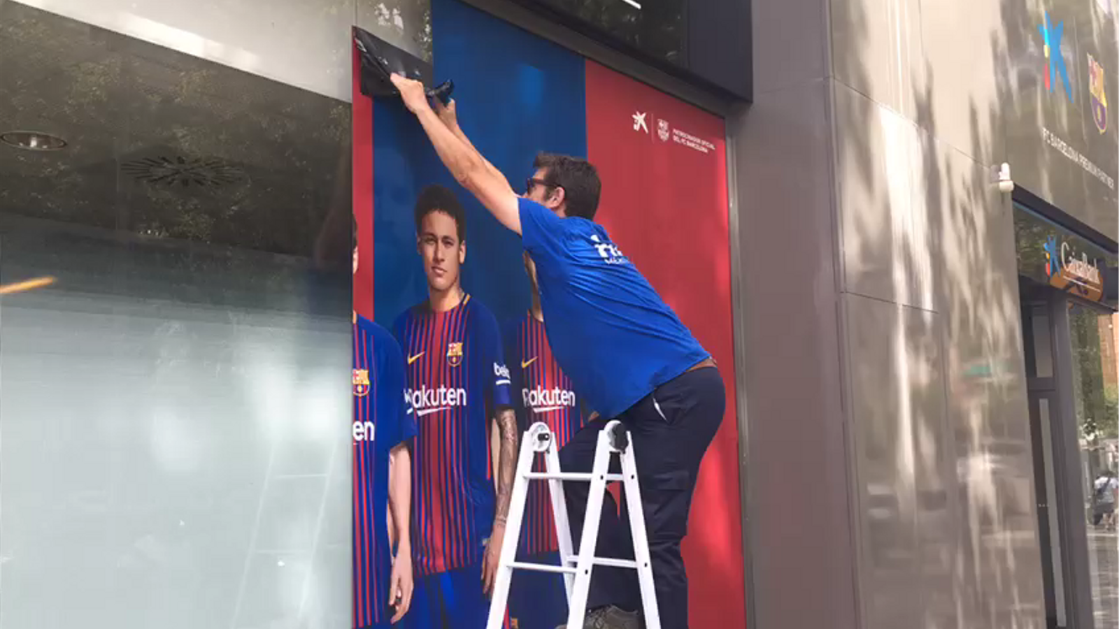 El Barça retira Neymar de la publicitat de l'estadi