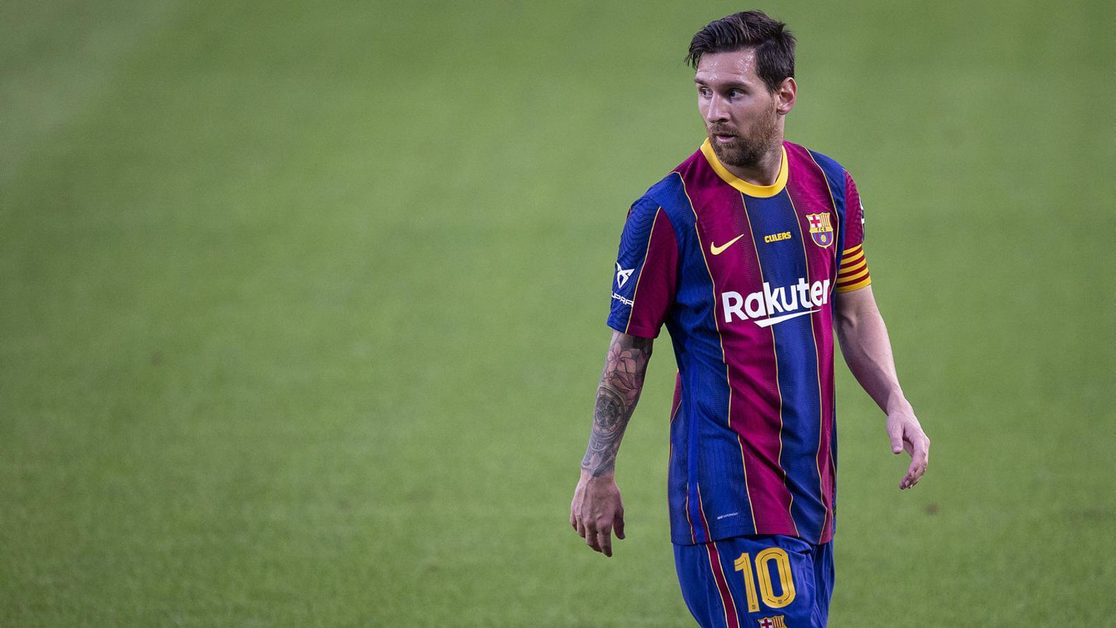 Messi en la disputa del Trofeu Joan Gamper.