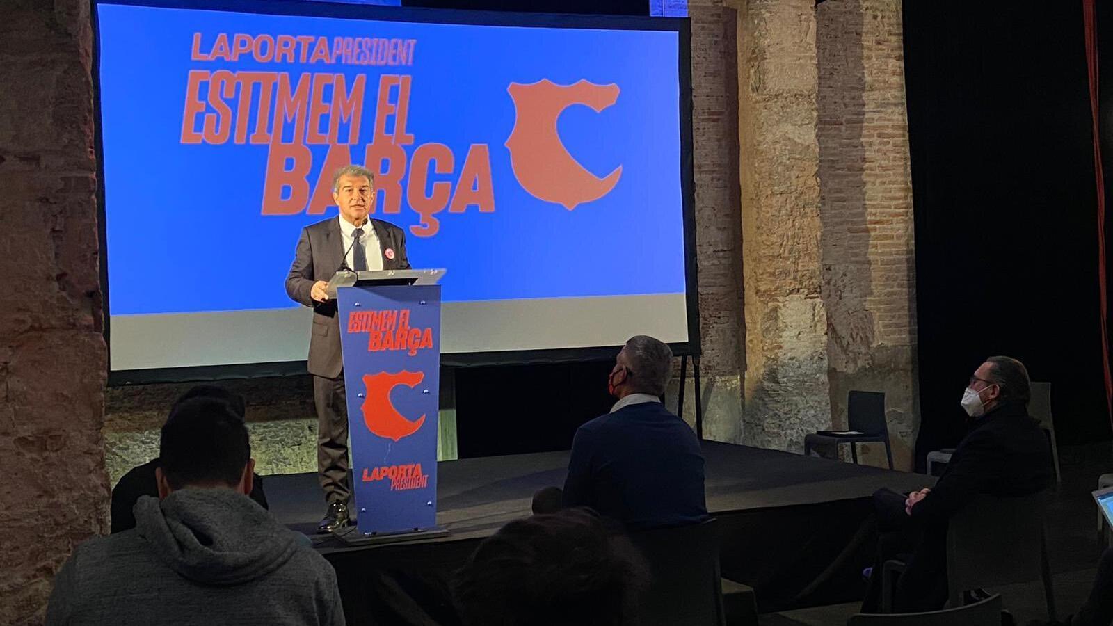 """Joan Laporta: """"Ajornar les eleccions seria perjudicial per al Barça"""""""