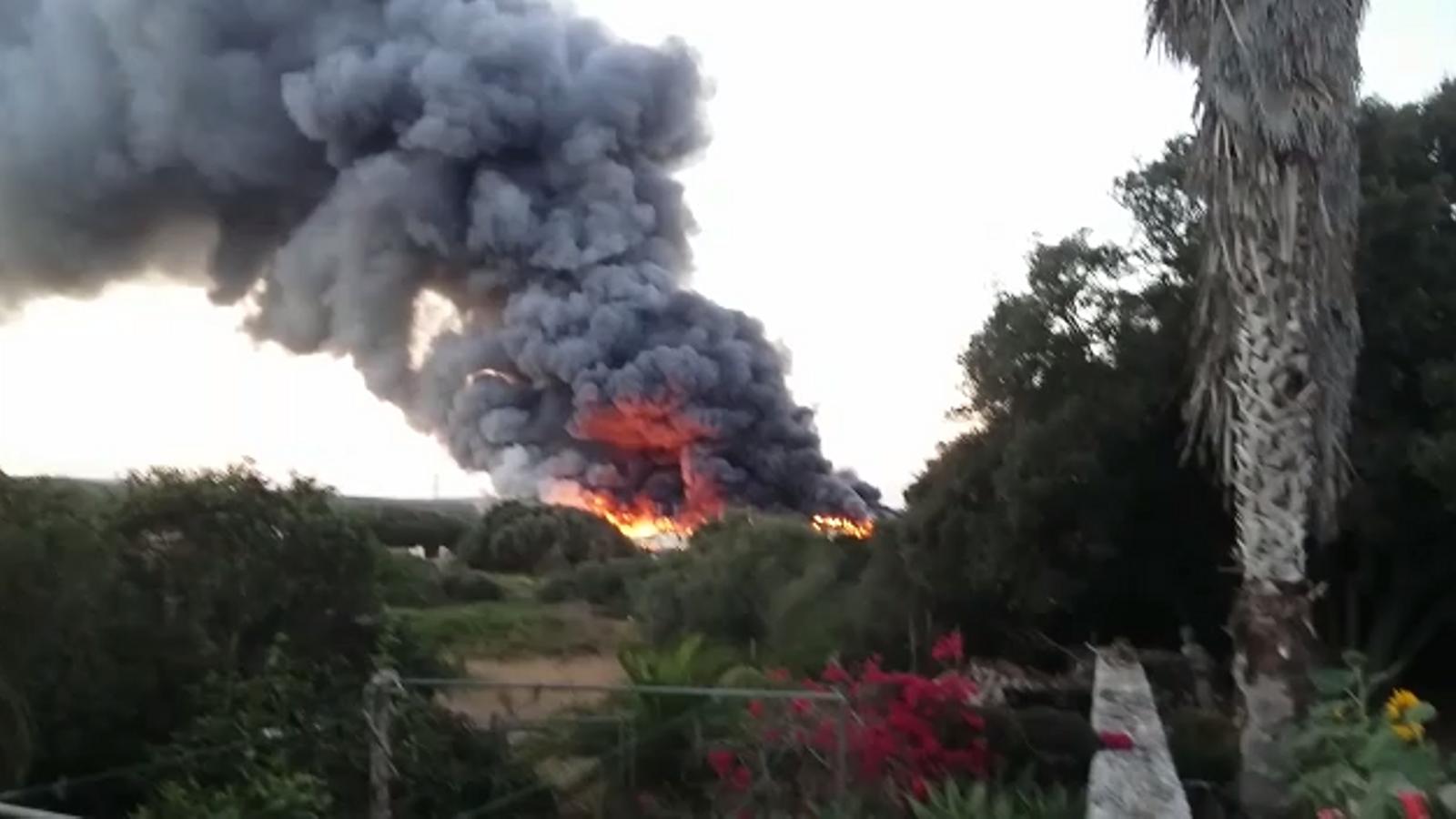 Incendi a la planta TIV de Maó