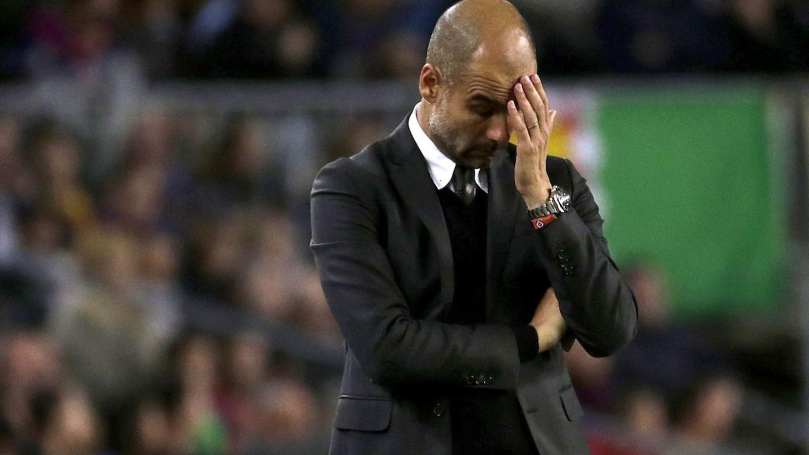 Pep Guardiola, decebut pel 4-0 del Barça contra el City