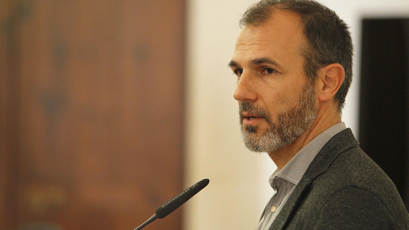 El vicepresident Biel Barceló va comparèixer a petició dels mitjans de comunicació  a la Conselleria de Turisme.