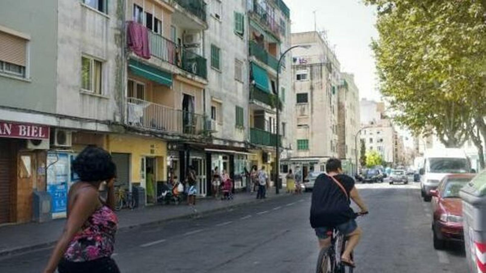 Un carrer del barri de Son Gotleu