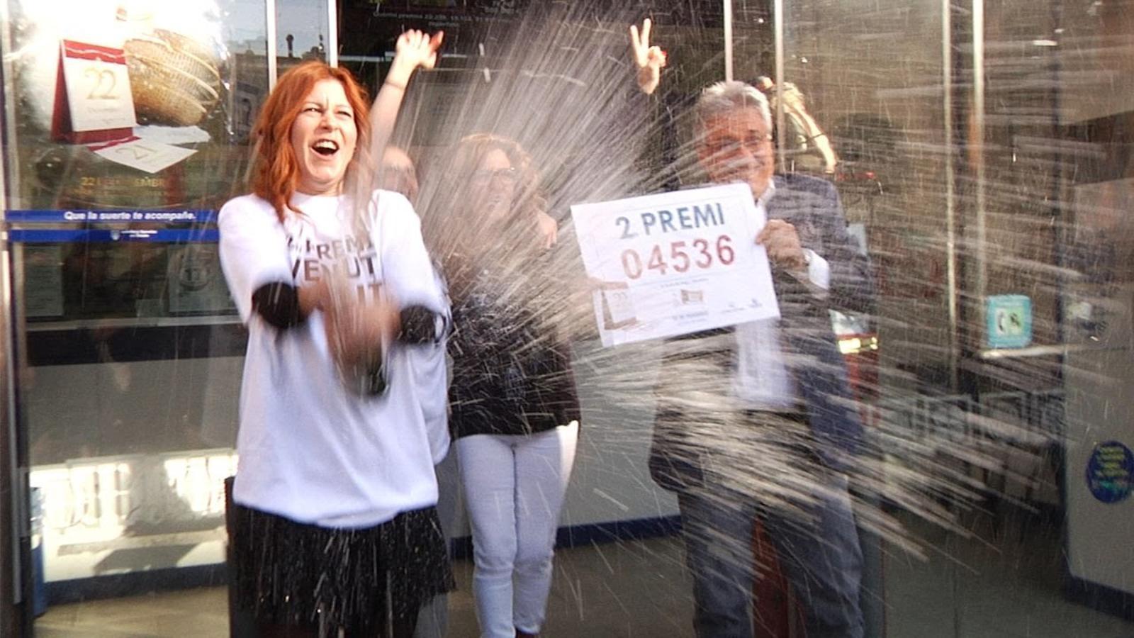 L'administració La Bruixa de Drap de Barcelona celebra el segon premi sense cap agraciat