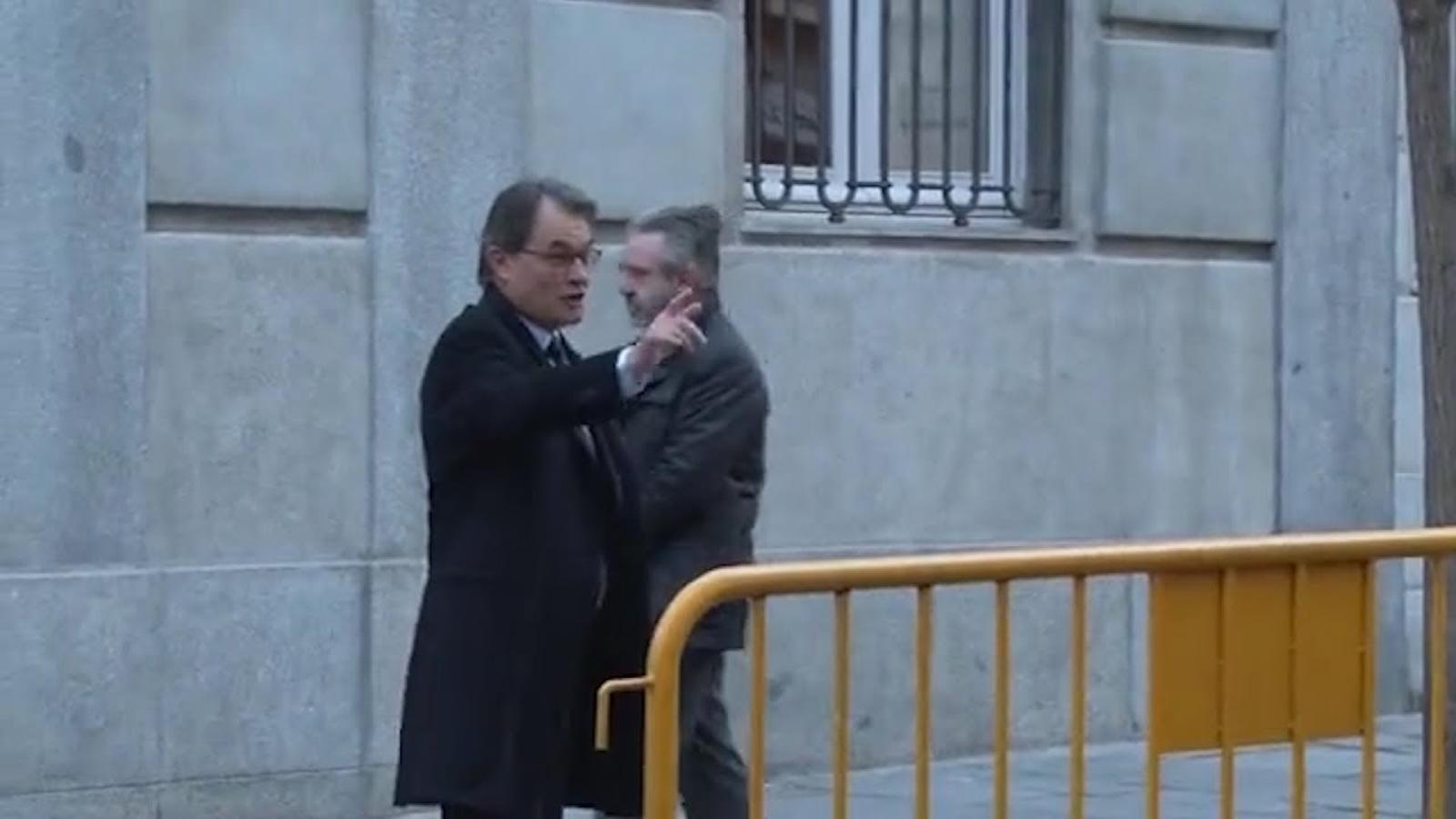 Artur Mas arriba al Tribunal Suprem