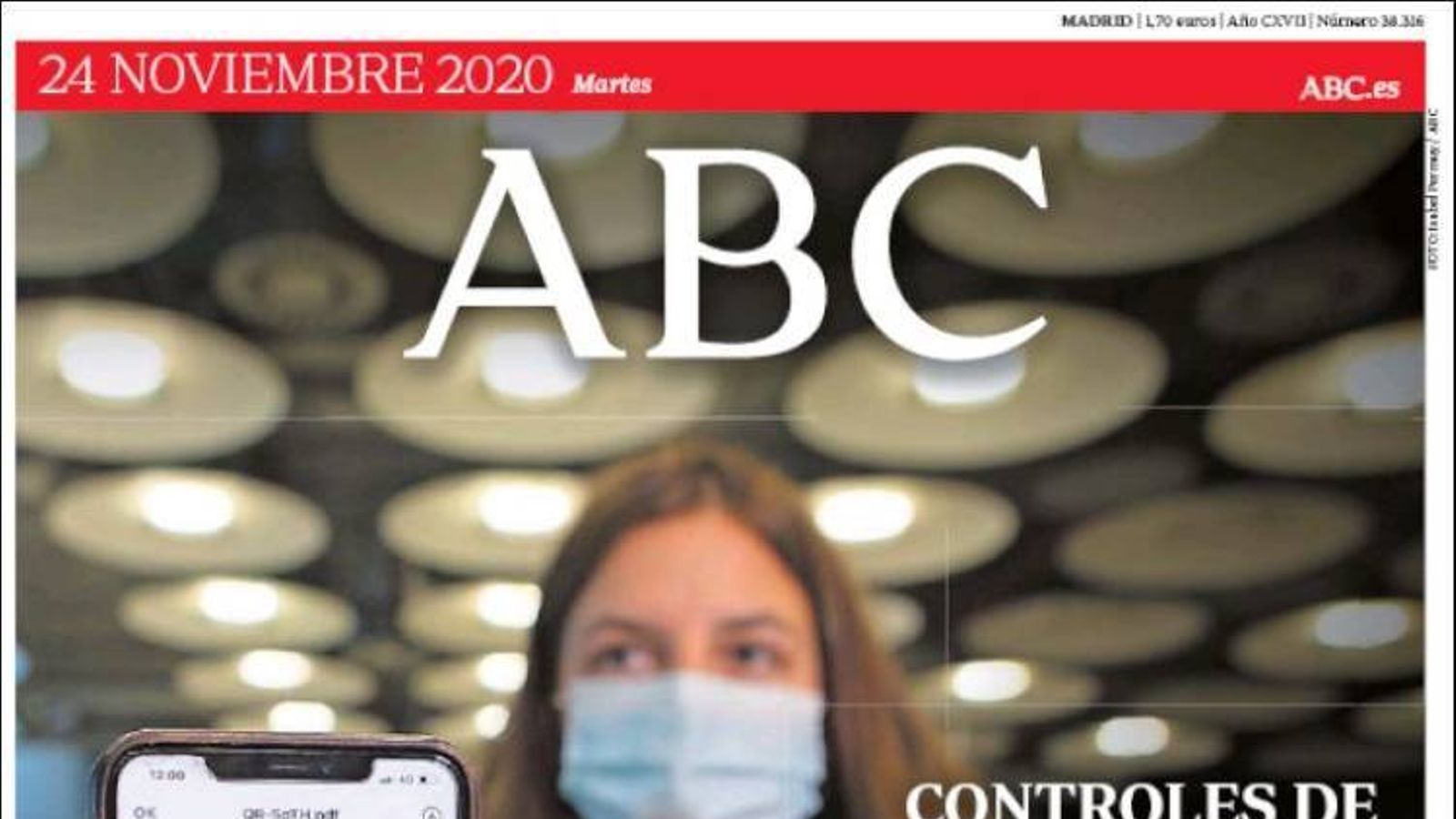 Portada 24 novembre 2020 ABC