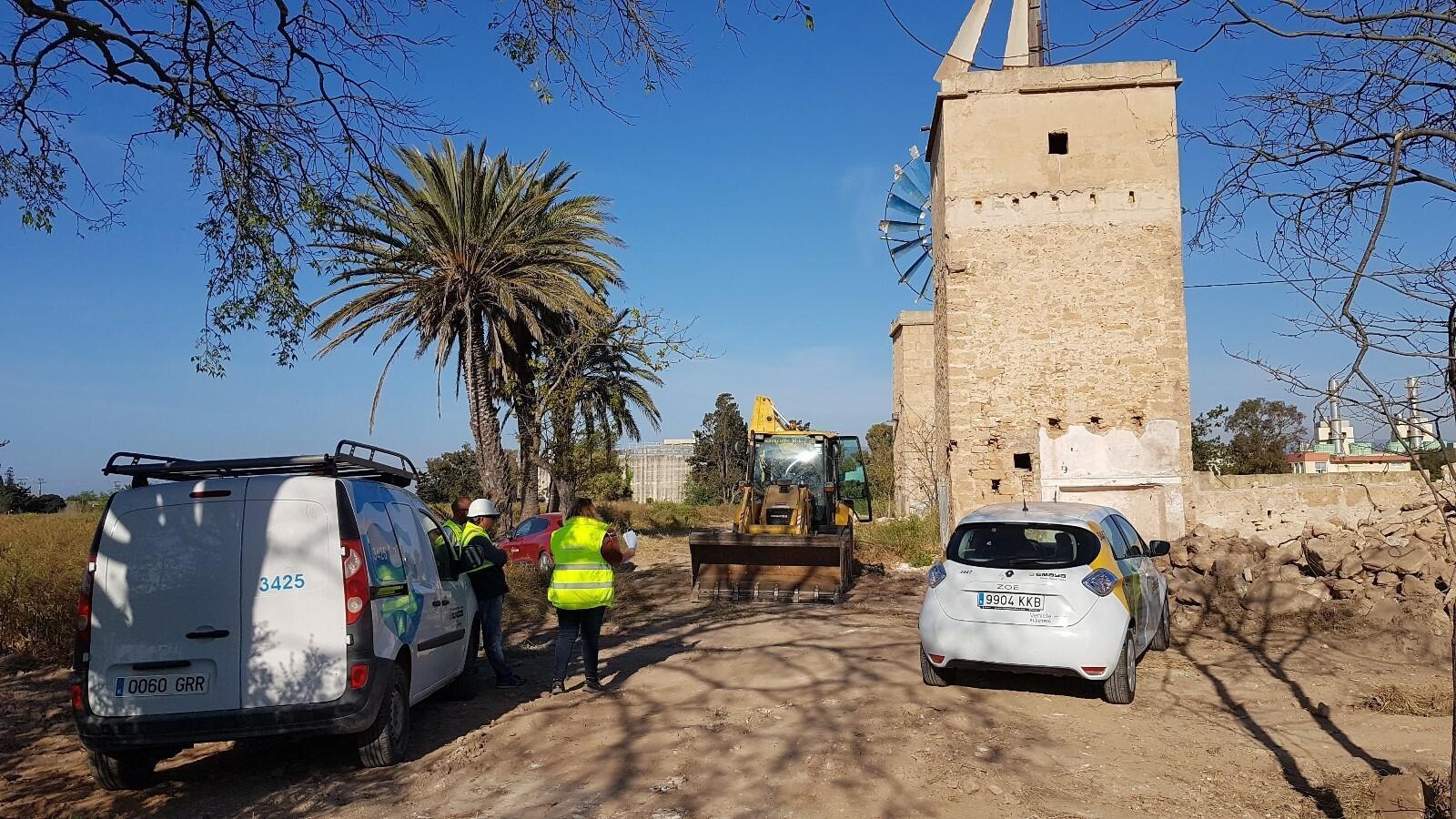 Inici de les obres per evitar els abocaments de contaminants i d'aigües residuals a la badia de Palma