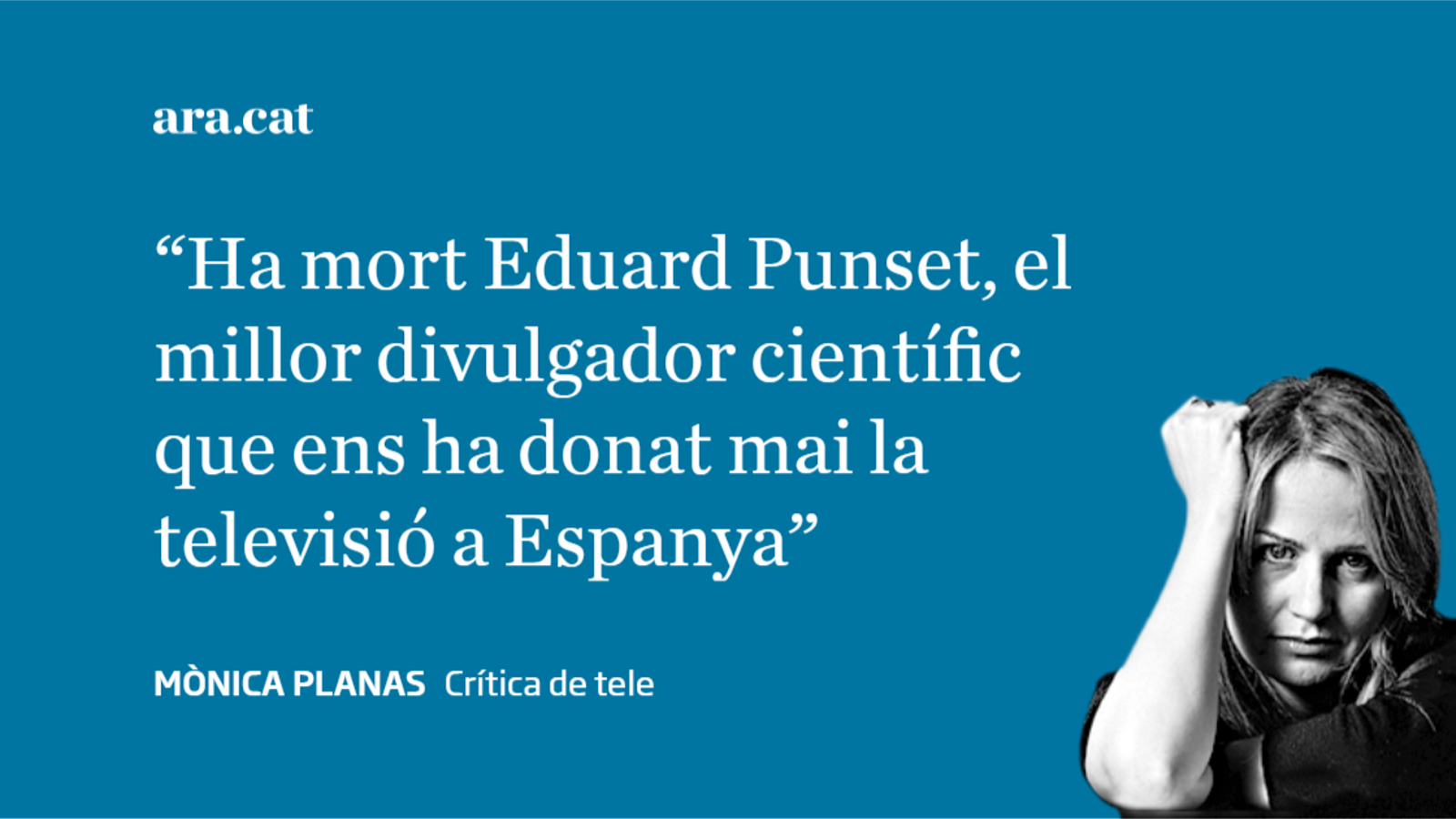 Eduard Punset: adeu al més savi de la tele